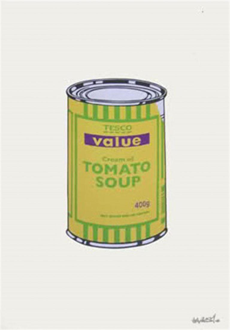 Soup Can (Banana/Lime/Purple) By Banksy