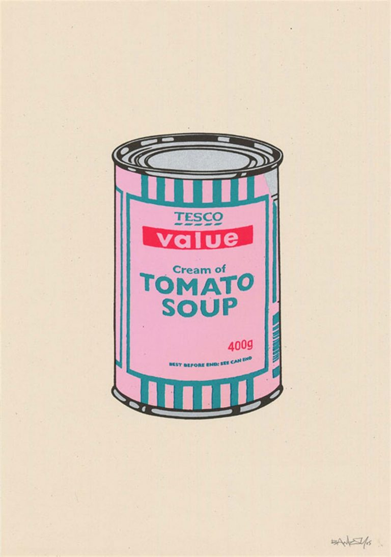 Soup Can (Pink/Emerald/Raspberry) By Banksy