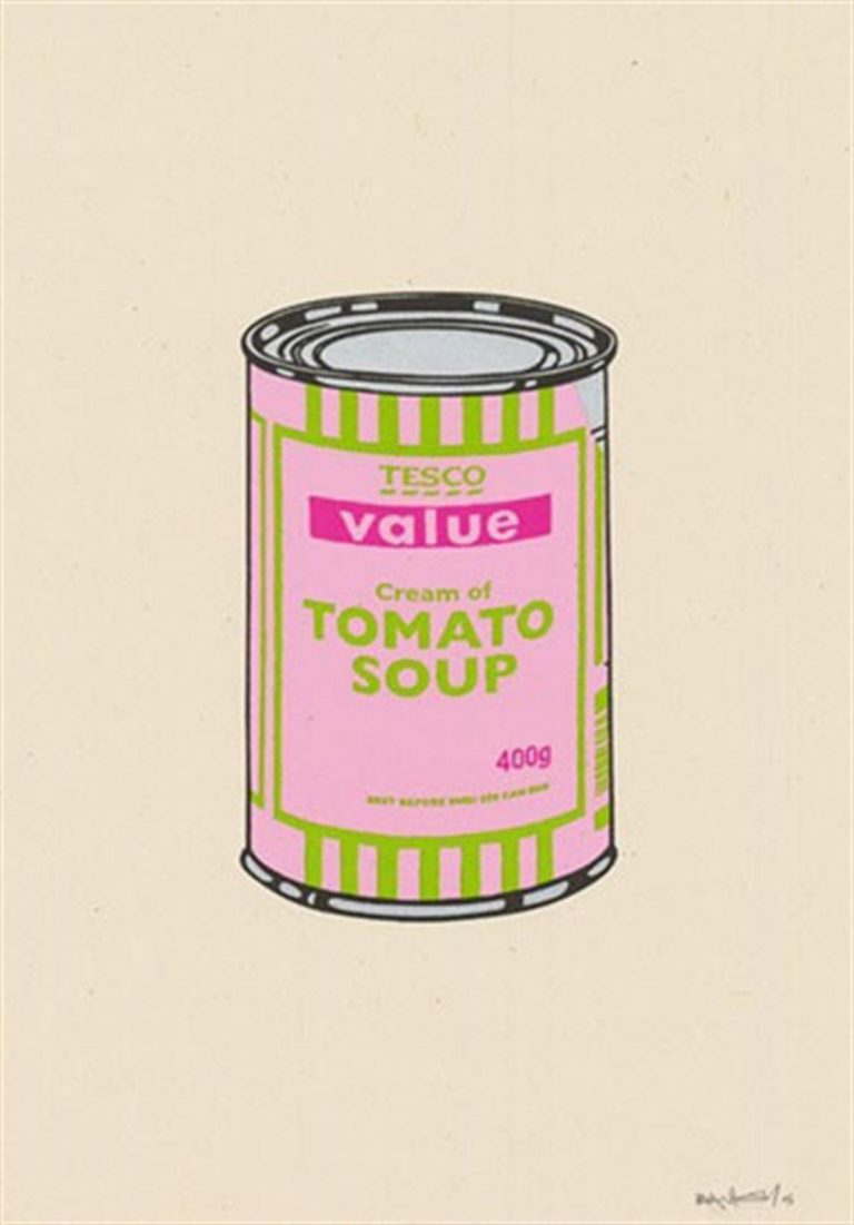 Soup Can (Pink/Lime/Hot Pink) by Banksy
