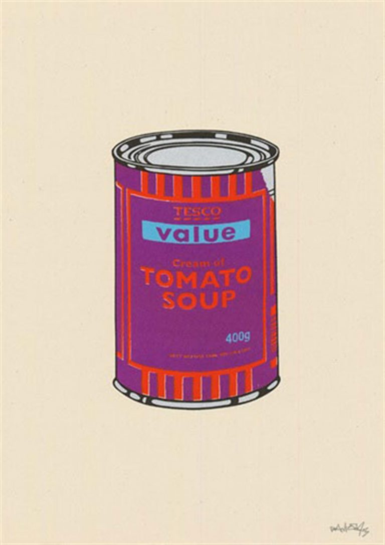 Soup Can (Purple/Orange/Blue) by Banksy