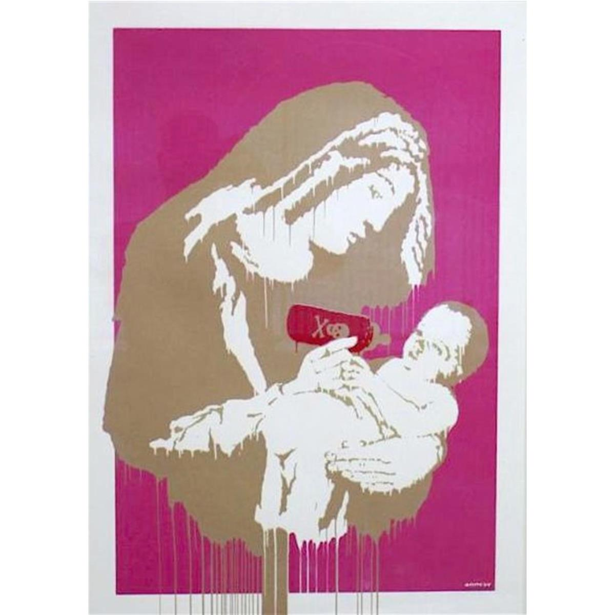 Toxic Mary (Pink) by Banksy