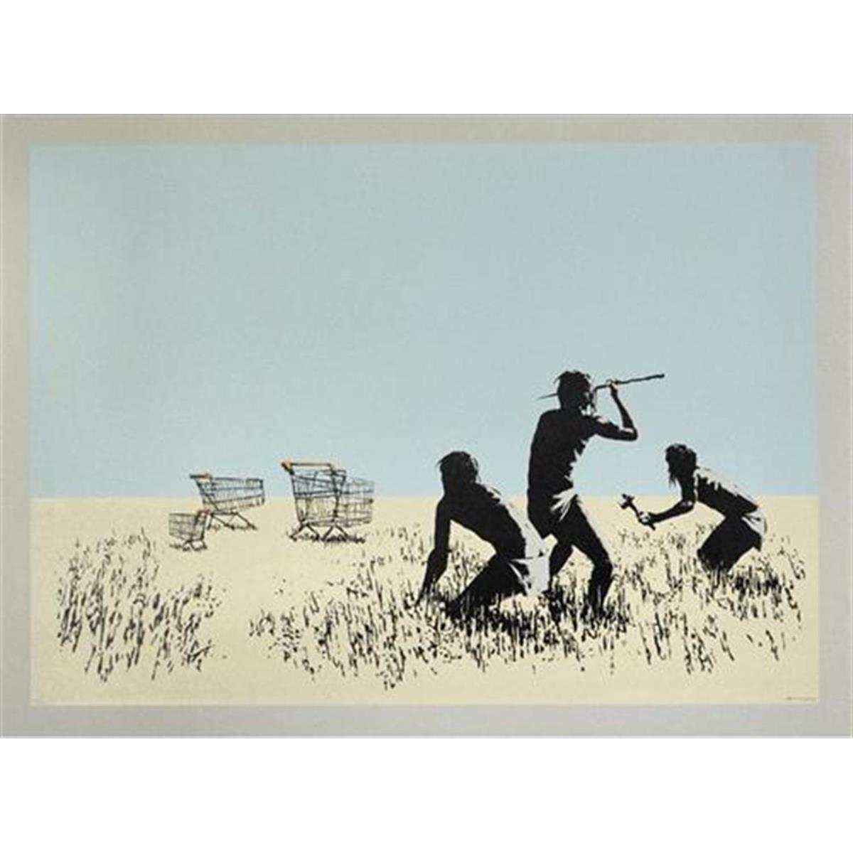Trolleys (On End Paper) by Banksy