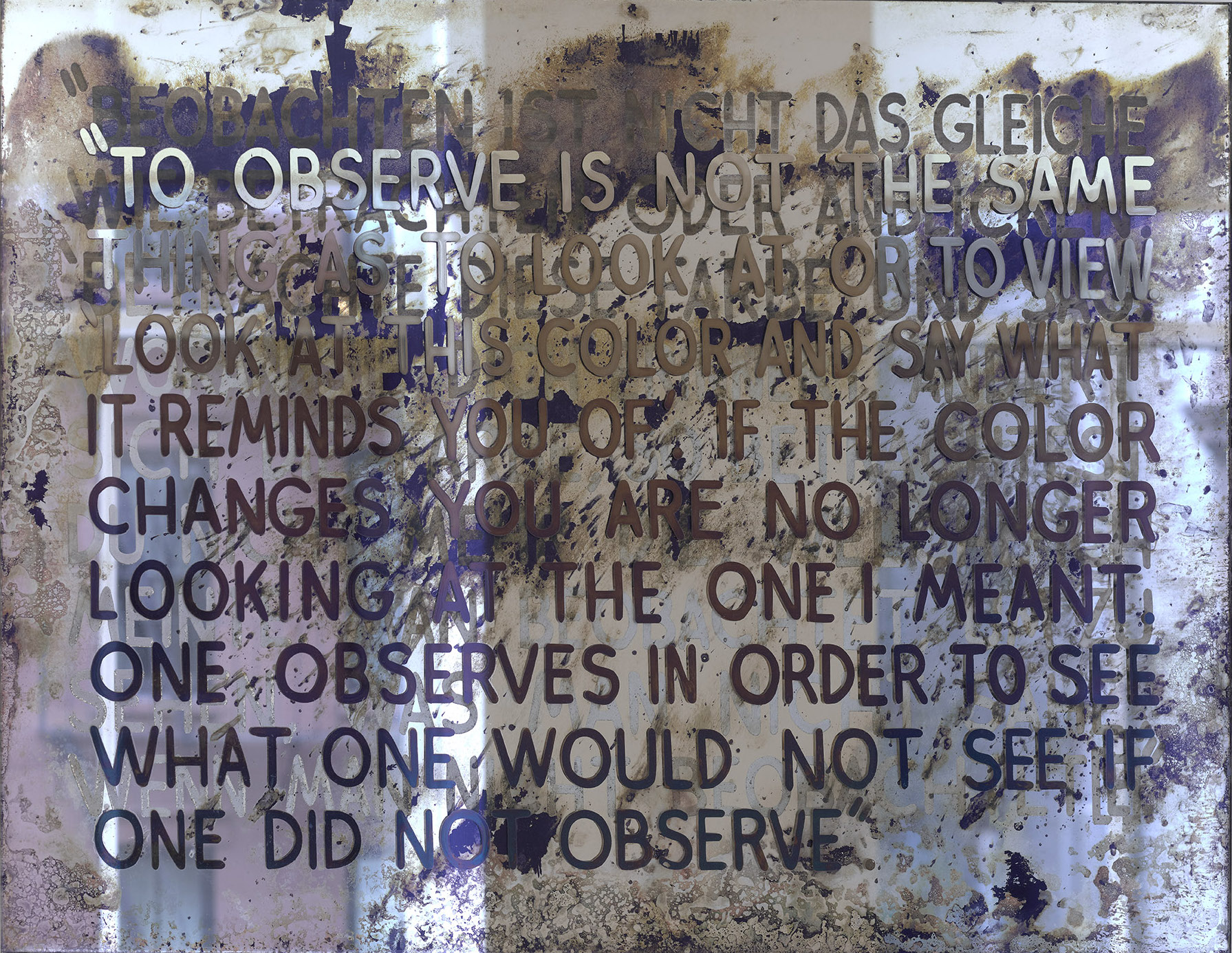 If the Color Changes by Mel Bochner