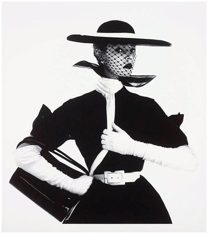 Fashion With Handbag B by Irving Penn
