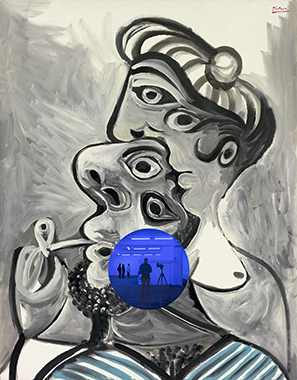 Gazing Ball (Picasso Couple) by Jeff Koons