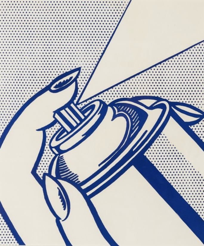 Spray Can by Roy Lichtenstein