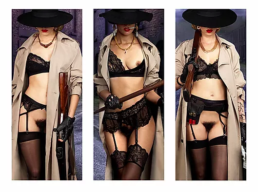The Three Gangsters Triptych by Philippe Shangti