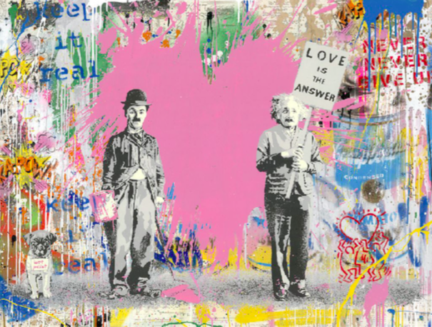 Juxtapose (Pink) by Mr. Brainwash