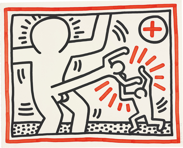 Three Lithographs (2) by Keith Haring