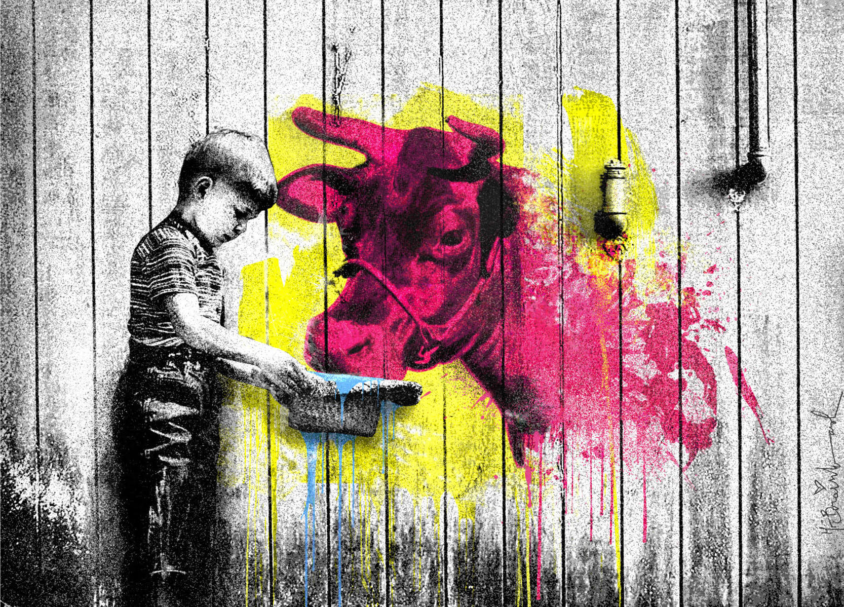 You Get What You Give by Mr. Brainwash