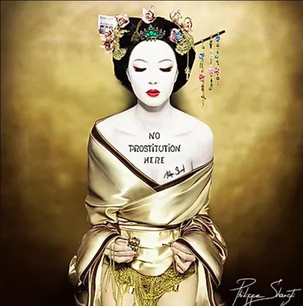 No Prostitution Here Geisha by Philippe Shangti