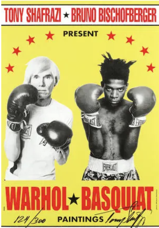 Poster for Warhol/Basquiat Paintings
