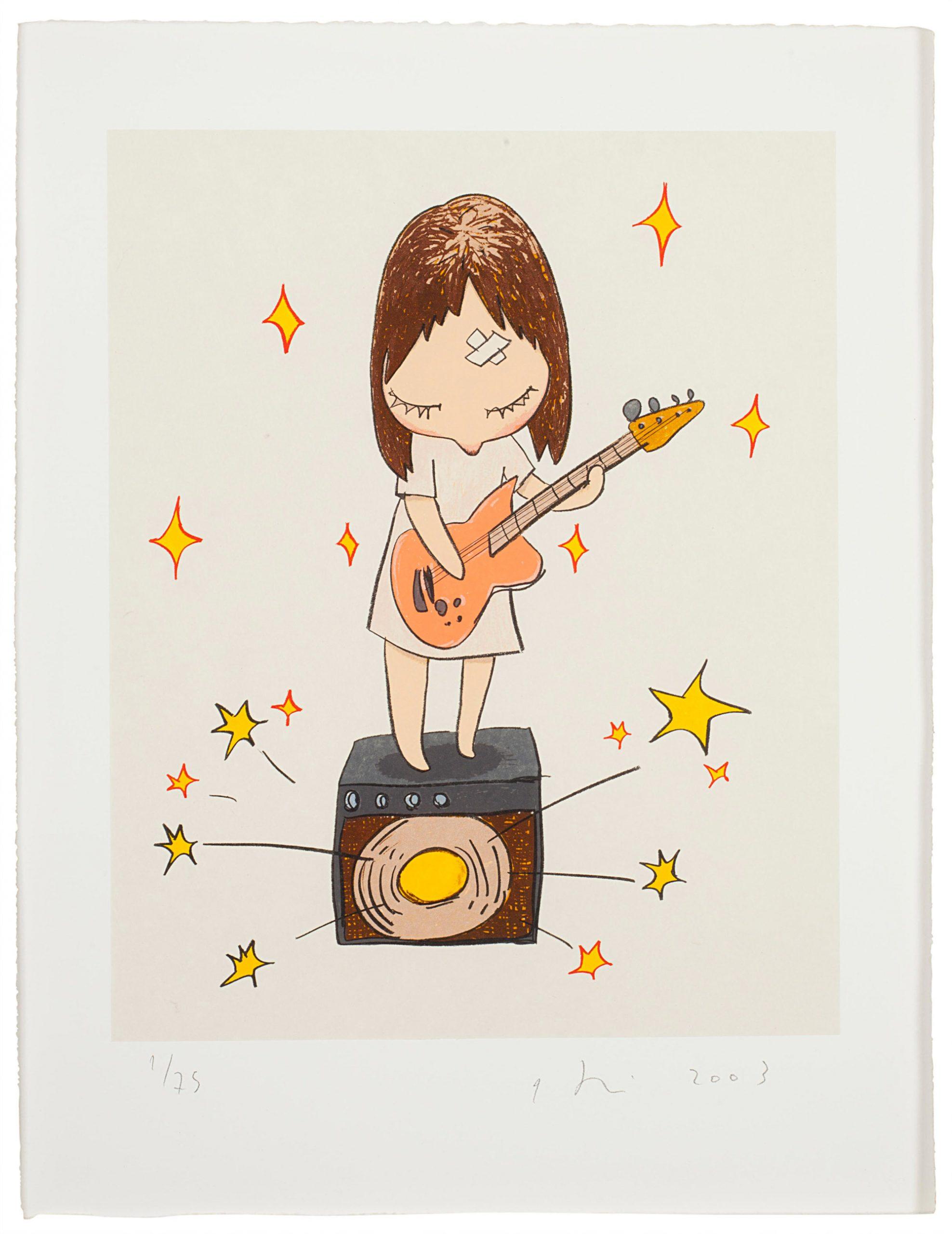 Guitar Girl by Yoshitomo Nara