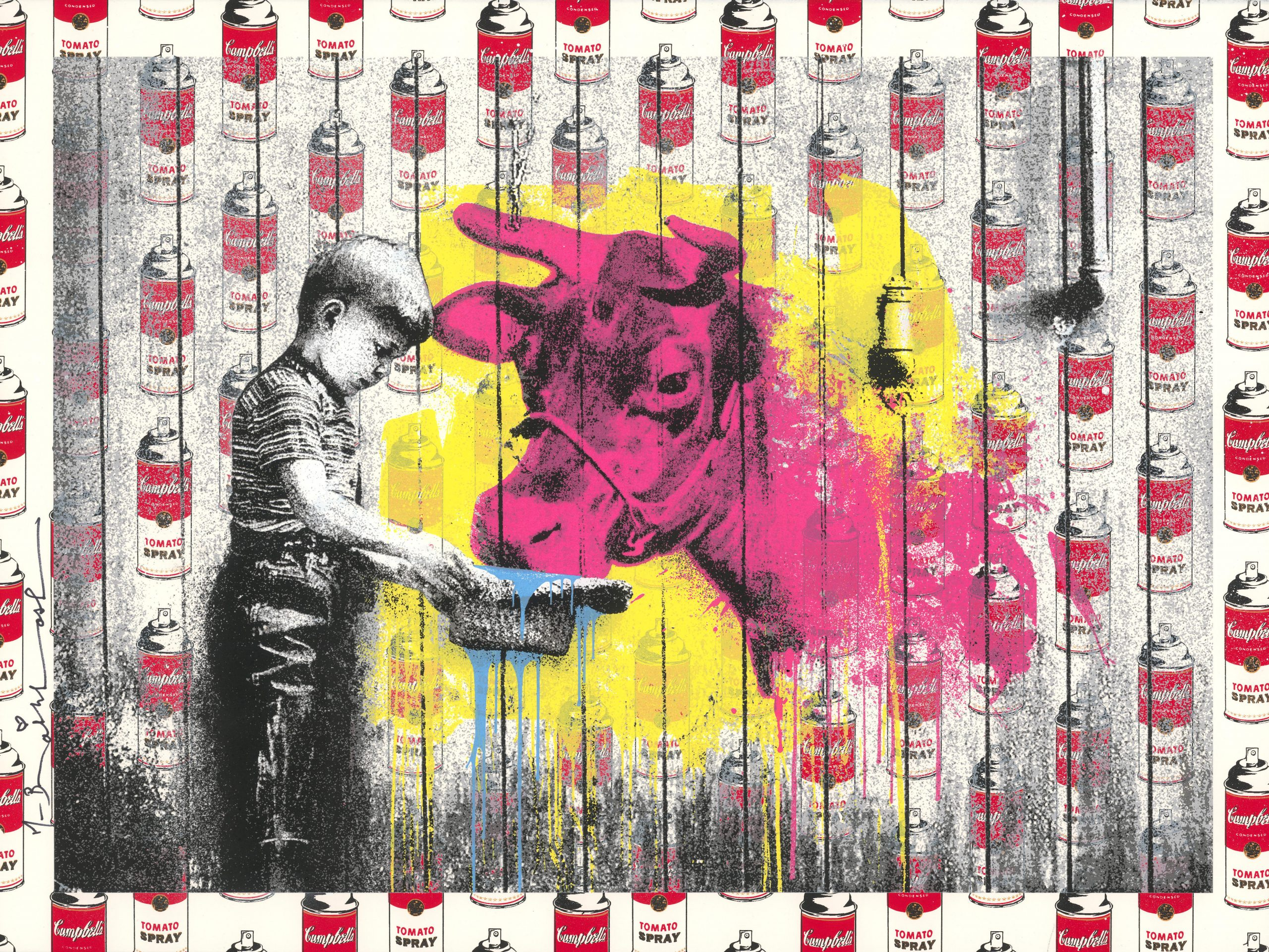 Soup Can Edition: You Get What You Give I by Mr. Brainwash