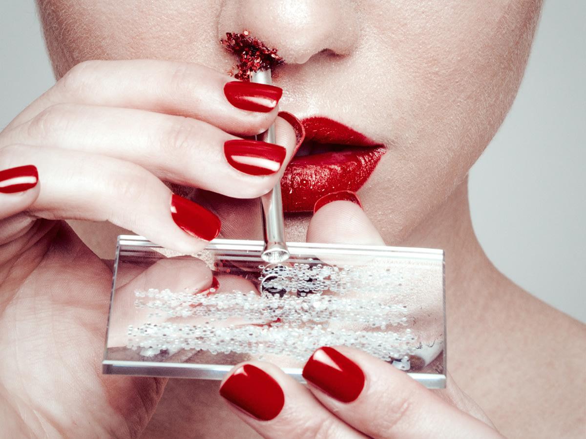Glitter Nose by Tyler Shields