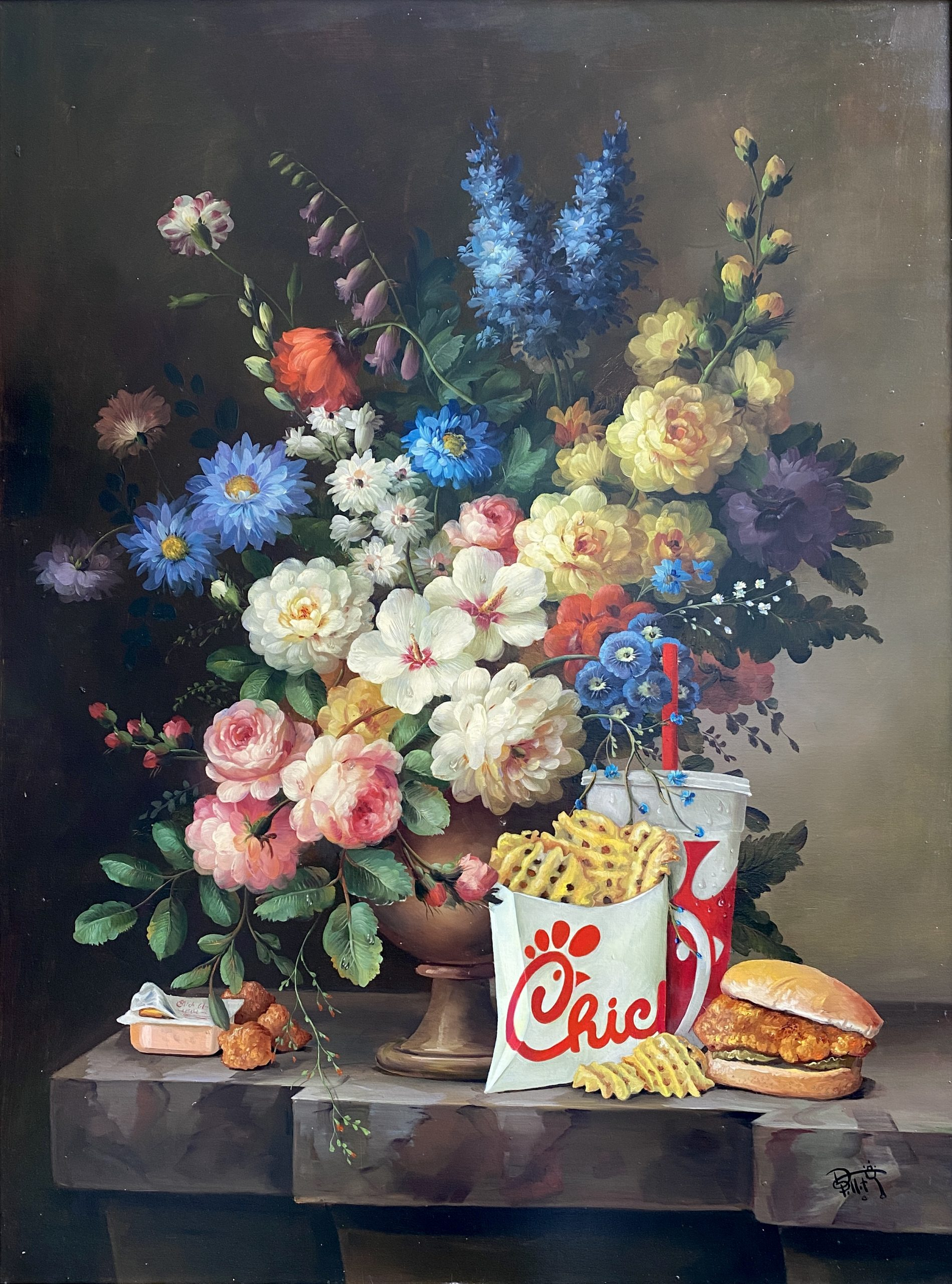 Calorie Composition 7 (Chick-fil-a) by Dave Pollot