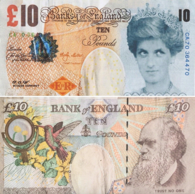 , Banksy: The Di-faced Tenner