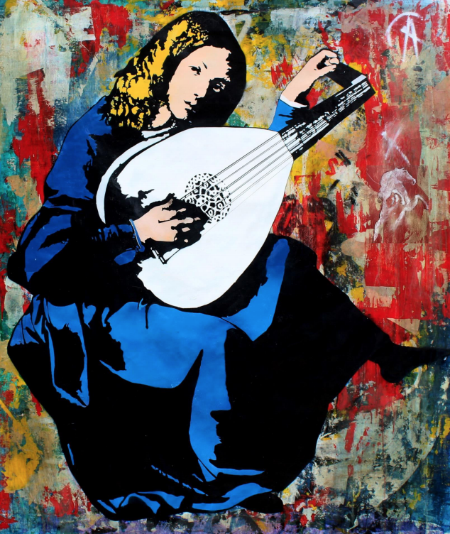 Lute Player by Blek Le Rat