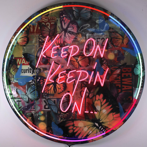 Keep On Keepin On Neon by RISK