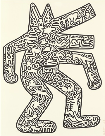 Dancing Dog by Keith Haring